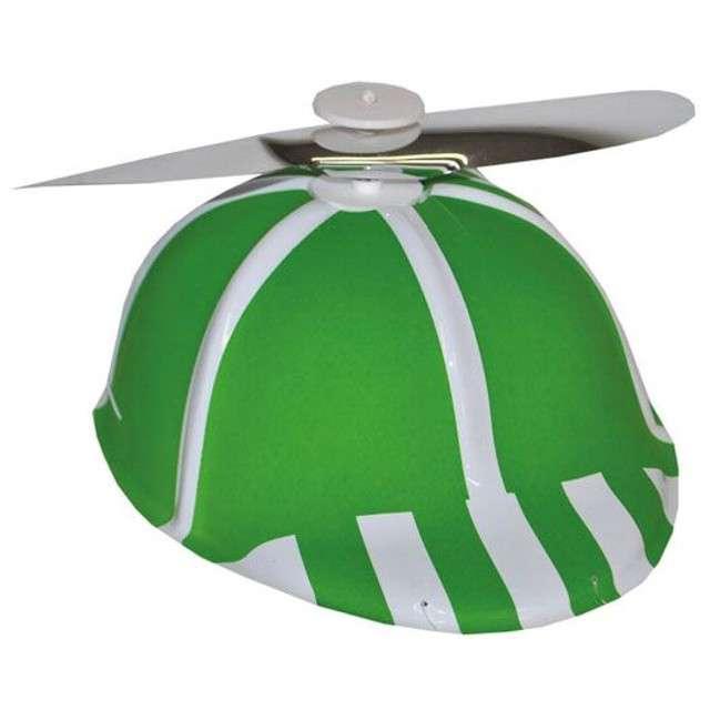 """Czapka """"Śmigło"""", zielona, plastik, FunnyFashion"""