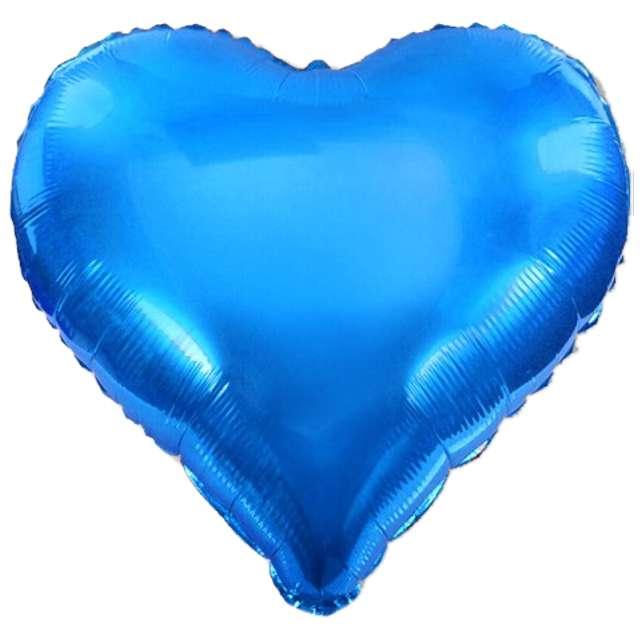 """Balon foliowy """"Serce XL"""", niebieski, DekoracjePolska, 24"""" HRT"""