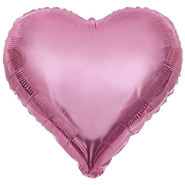"Balon foliowy ""Serce XL"", różowy jasny, VIPER, 24"" HRT"