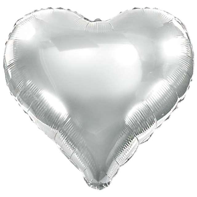 "Balon foliowy ""Serce XL"", srebrne, VIPER, 24"" HRT"