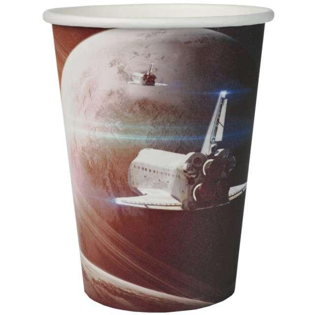 """Kubeczki papierowe """"Astronauci"""", SANTEX, 250 ml, 10 szt"""