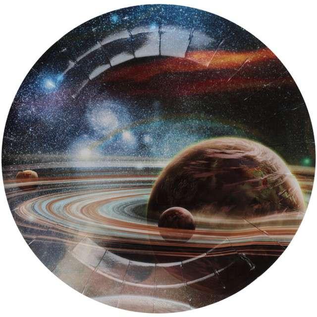 """Talerzyki papierowe """"Astronauci"""", SANTEX, 23 cm, 10 szt"""