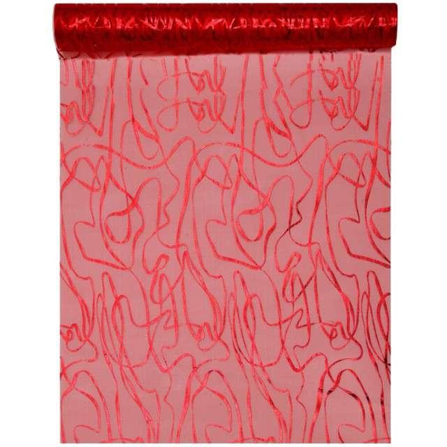 """Bieżnik """"Wzorki"""", czerwony, SANTEX, 500 x 28 cm"""