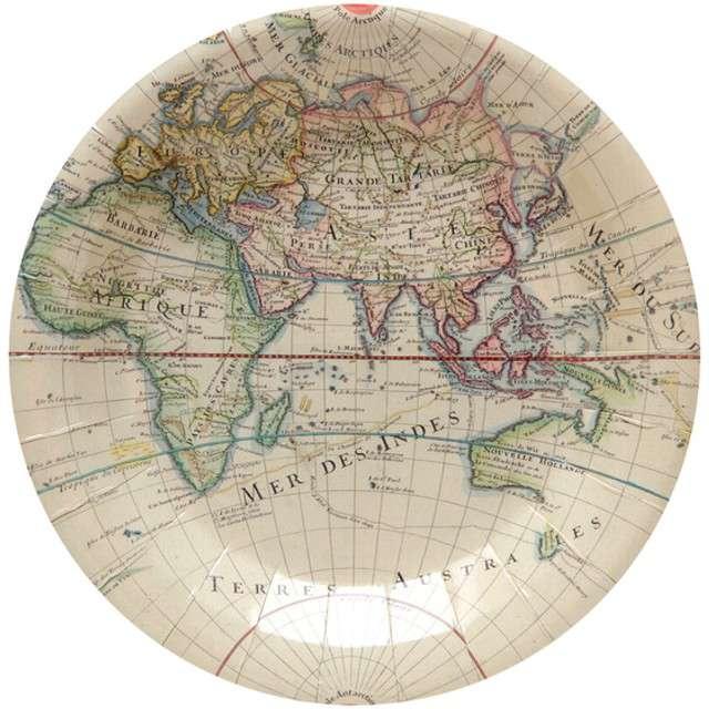 """Talerzyki papierowe """"Mapa Podróży"""", SANTEX, 23 cm, 10 szt"""