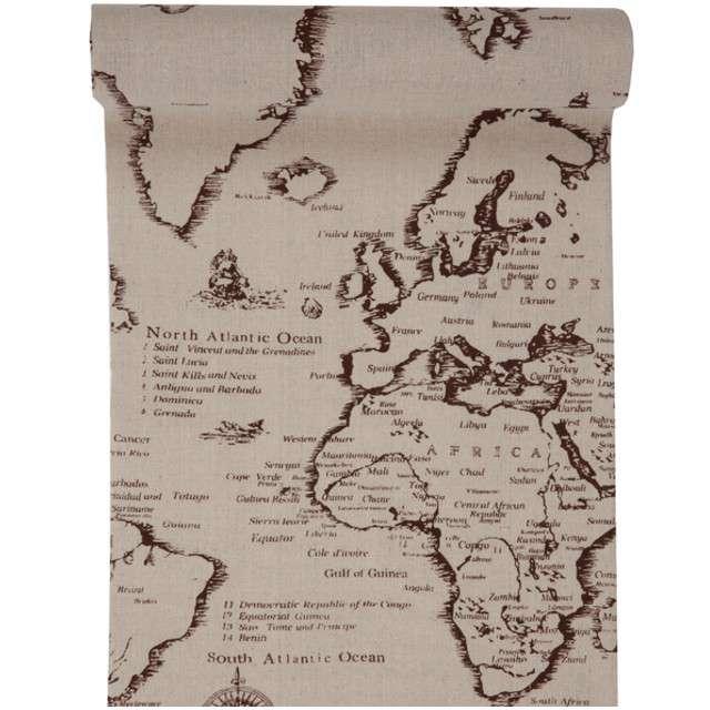 """Bieżnik """"Mapa  Podróży"""", SANTEX, 300 x 28 cm"""