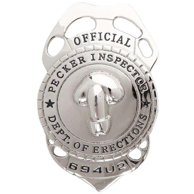"""Odznaka """"Fiutowy Policjant"""", srebrny, WIDMANN"""
