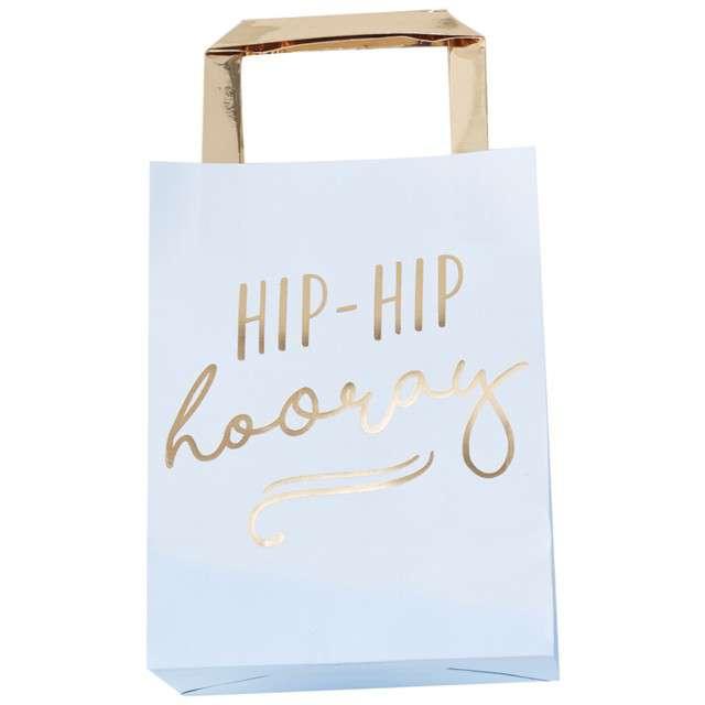"""Torebka prezentowa """"Hip Hip Hooray"""", Ginger Ray, 26x15 cm, 5 szt"""