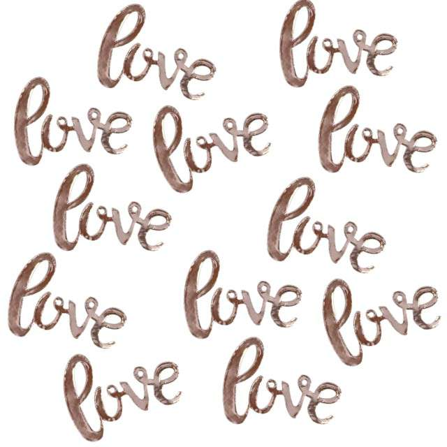 """Konfetti """"Love"""", różowo złote, Ginger Ray, 14g"""