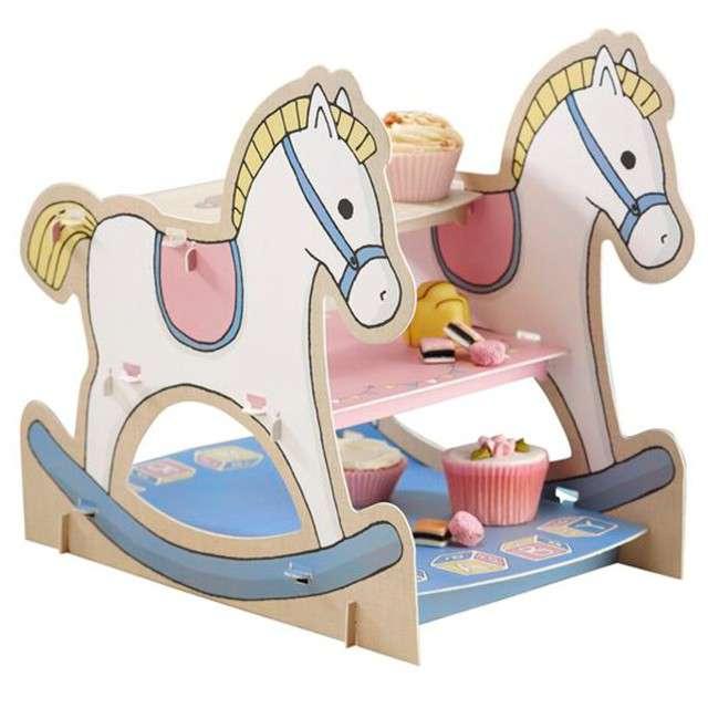 """Patera papierowa """"Koń na biegunach"""", Ginger Ray, 14 cm"""