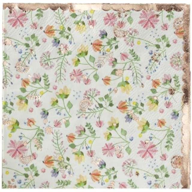 "Serwetki ""Ditsy Floral"", Ginger Ray, 25 cm, 16 szt"