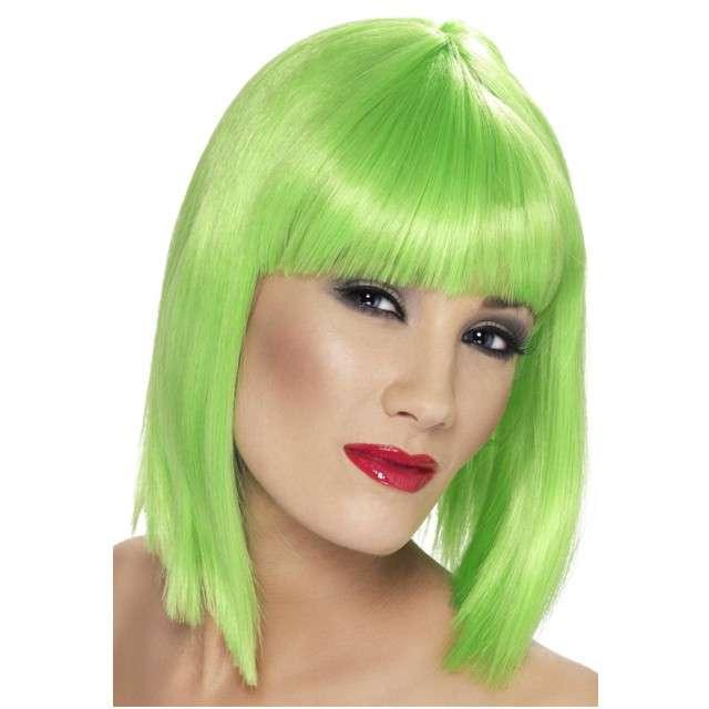 "Peruka party ""Neon"", zielona, SMIFFYS"