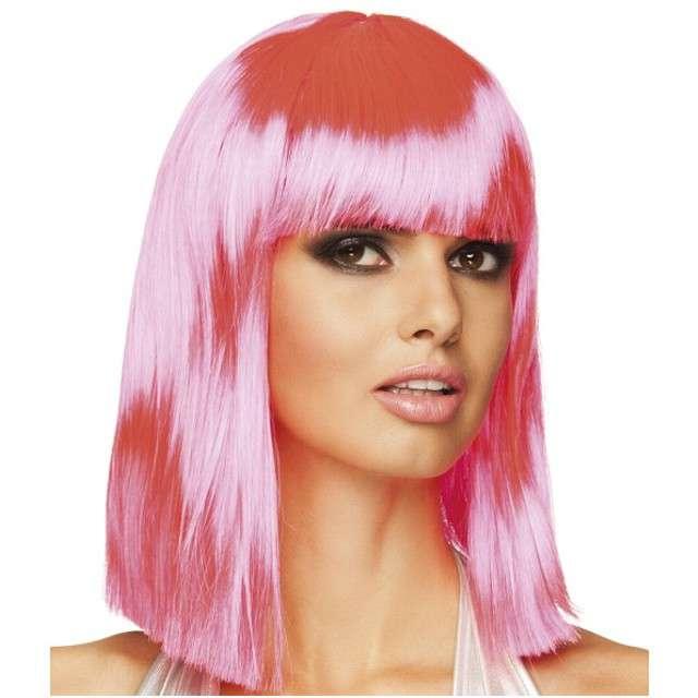 """Peruka party """"Dance"""", różowy neonowy, BOLAND"""