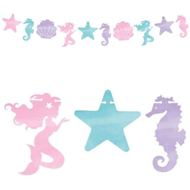 "Baner ""Mermaid Shine"", Creative Converting, 182 cm"
