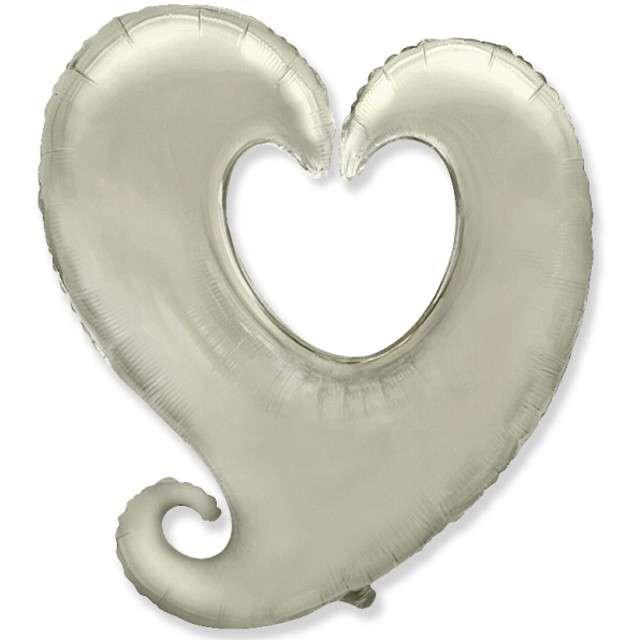 "Balon foliowy ""Serce splątane"", srebrne, Godan, 24"", SHP"