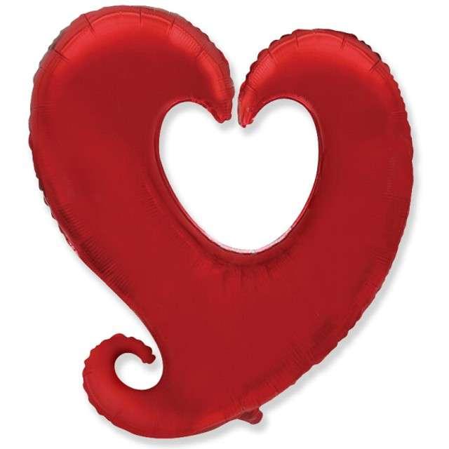 """Balon foliowy """"Serce splątane"""", czerwone, Godan, 24"""", SHP"""