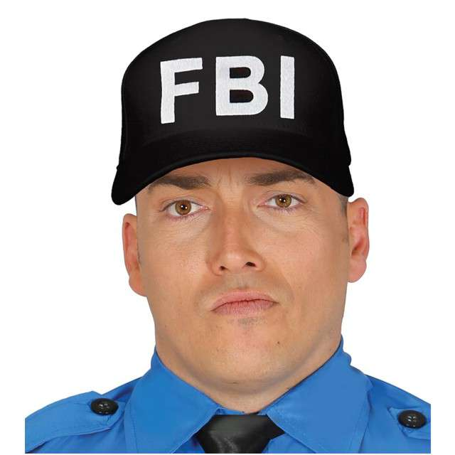 """Czapka """"Policja FBI"""", GUIRCA, czarna"""