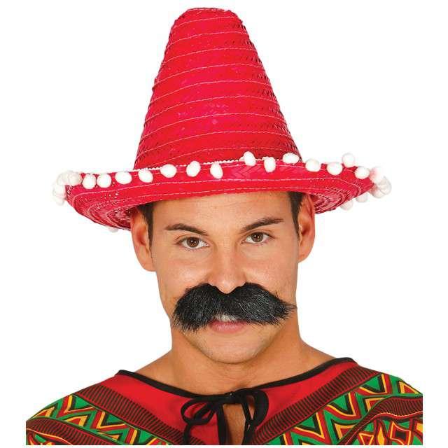 """Kapelusz """"Mini Sombrero"""", czerwony, GUIRCA, 33 cm"""