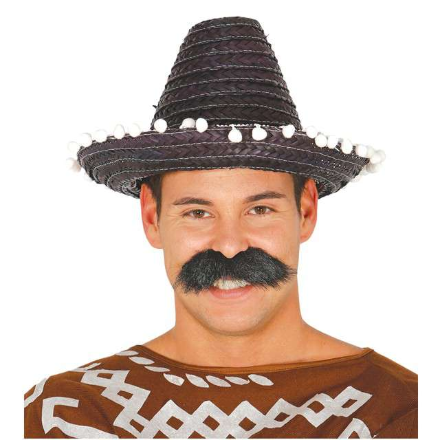 "Kapelusz ""Mini Sombrero"", czarny, GUIRCA, 33 cm"