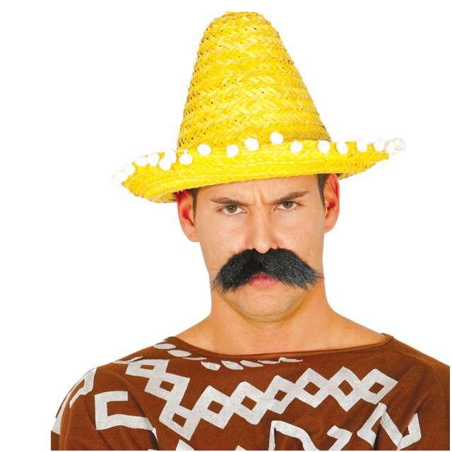 """Kapelusz """"Mini Sombrero"""", żółty, GUIRCA, 33 cm"""
