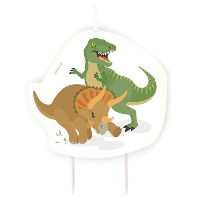 """Świeczka na tort """"Happy Dinosaur"""", AMSCAN"""