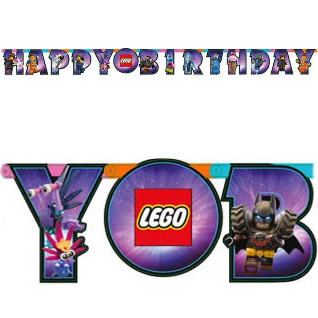 """Girlanda """"Happy Birthday - Lego Movie 2"""", AMSCAN, 163 cm"""