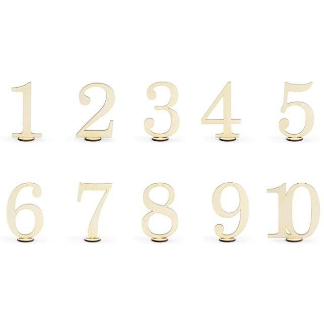 """Dekoracja """"Numery na stół"""", PartyDeco, 10,5 cm, 10 szt"""