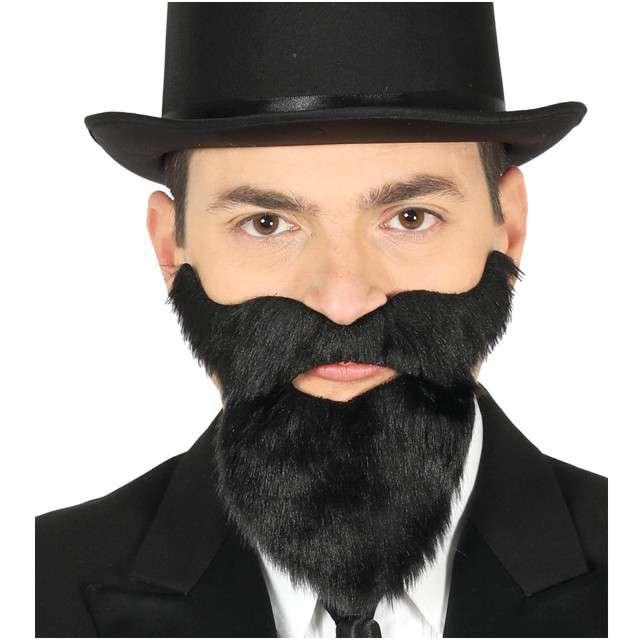 """Wąsy party """"Wąsy i broda"""", czarny, GUIRCA"""