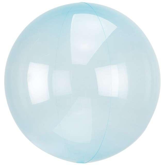 "Balon foliowy ""Kula transparentna"", niebieski, AMSCAN, 18"" ORB"