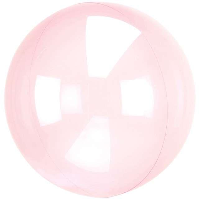 """Balon foliowy """"Kula transparentna"""", różowy ciemny, AMSCAN, 18"""" ORB"""