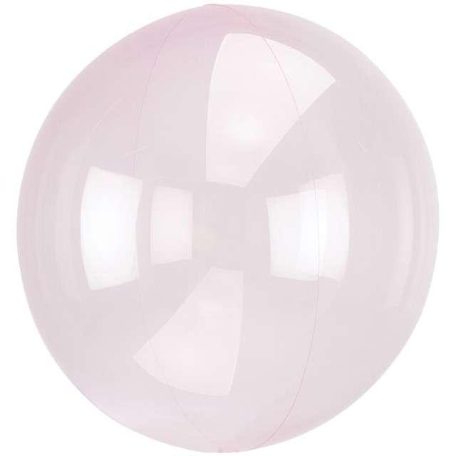 """Balon foliowy """"Kula transparentna"""", różowy jasny, AMSCAN, 18"""" ORB"""