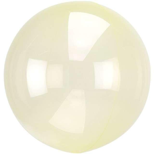 """Balon foliowy """"Kula transparentna"""", żółty, AMSCAN, 18"""" ORB"""