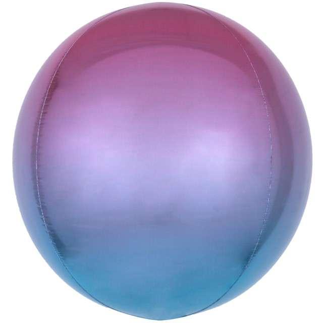"""Balon foliowy """"Kula Ombre"""", fioletowy, AMSCAN, 16"""" ORB"""