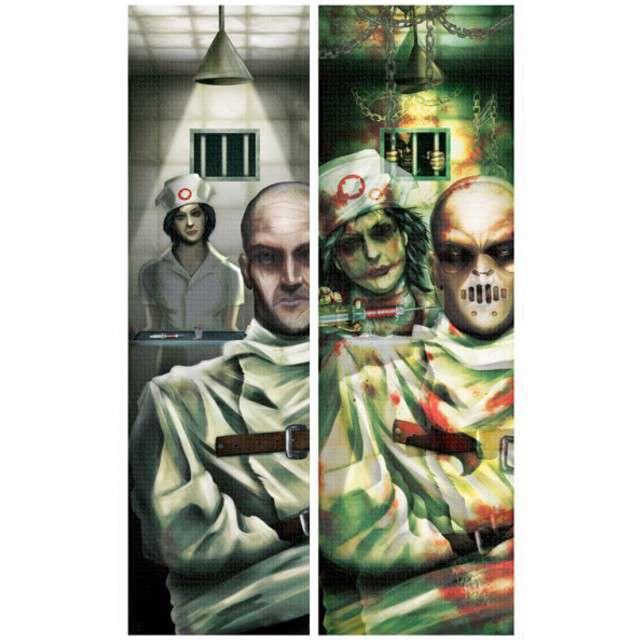 """Dekoracja 3D """"Szpital Psychiatryczny"""", AMSCAN, 100 x 30 cm"""