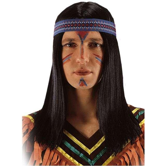 """Peruka party """"Indianin Wino Tu"""", czarna, Carnival Toys"""