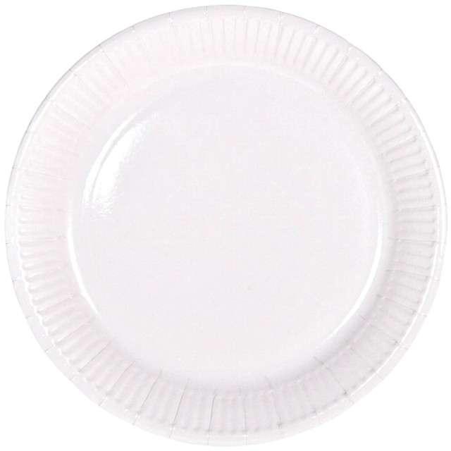 """Talerzyki papierowe """"Classic"""", białe, FOLAT, 23 cm, 8 szt"""