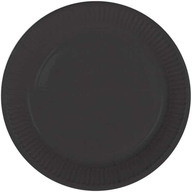 """Talerzyki papierowe """"Classic"""", czarne, FOLAT, 23 cm, 8 szt"""