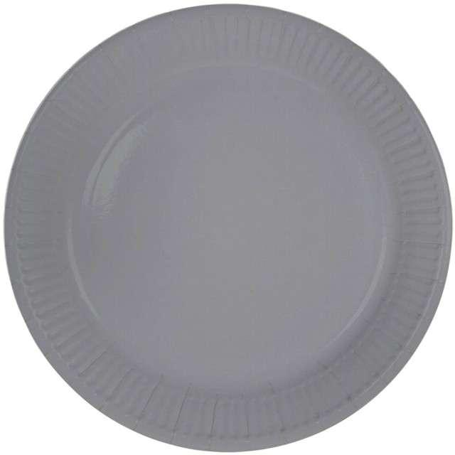 """Talerzyki papierowe """"Classic"""", srebrne, FOLAT, 23 cm, 8 szt"""