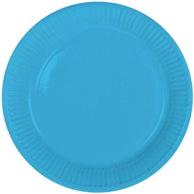 """Talerzyki papierowe """"Classic"""", niebieskie, FOLAT, 23 cm, 8 szt"""