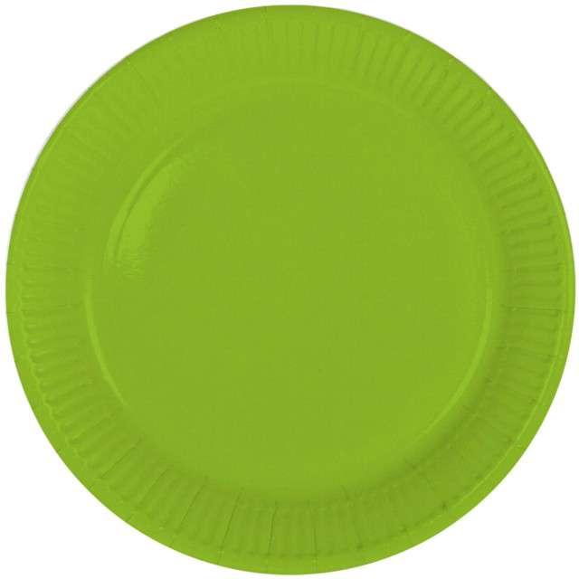 """Talerzyki papierowe """"Classic"""", zielone jabłuszko, FOLAT, 23 cm, 8 szt"""