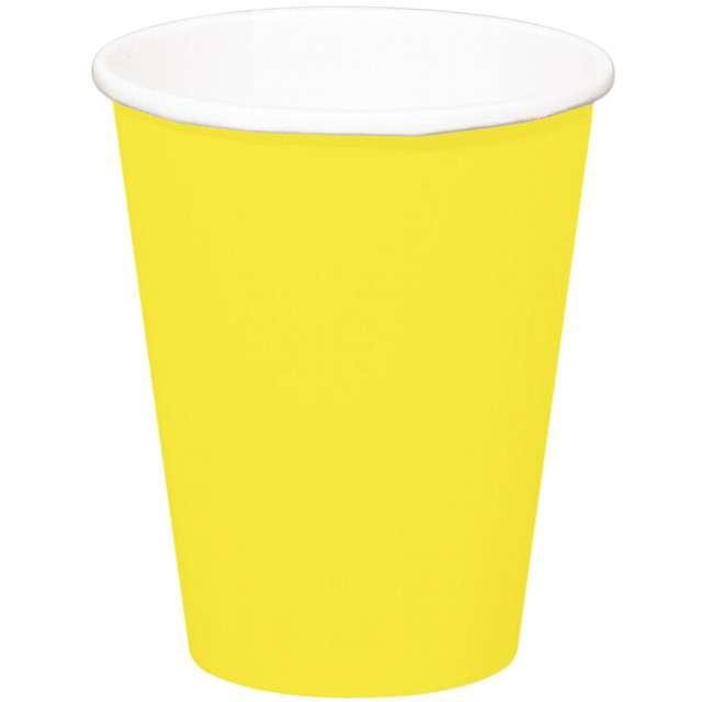 """Kubeczki papierowe """"Classic XL"""", żółty, FOLAT, 350 ml, 8 szt"""