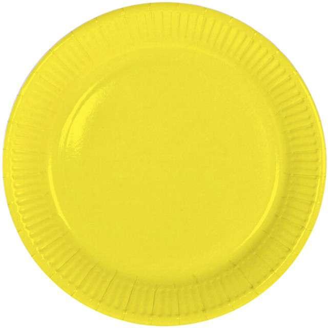 """Talerzyki papierowe """"Classic"""", żółte, FOLAT, 23 cm, 8 szt"""
