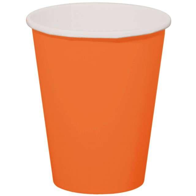 """Kubeczki papierowe """"Classic XL"""", pomarańczowy, FOLAT, 350 ml, 8 szt"""