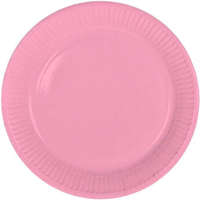 """Talerzyki papierowe """"Classic"""", różowe jasne, FOLAT, 23 cm, 8 szt"""