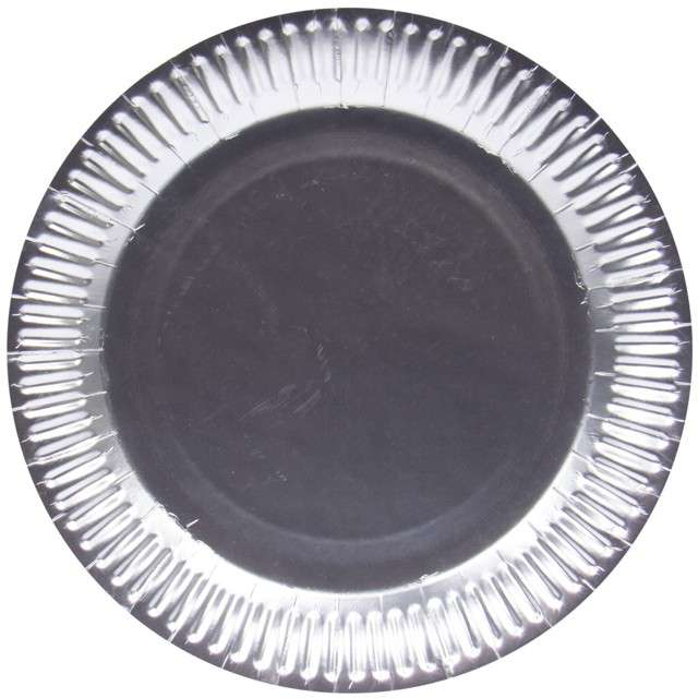 "Talerzyki papierowe ""Premium Mat"", srebrne, FOLAT, 23 cm, 8 szt"
