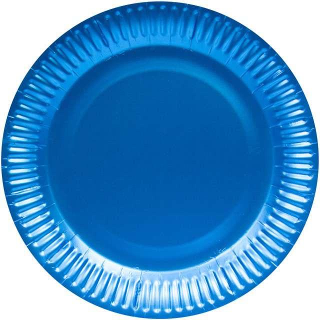 """Talerzyki papierowe """"Premium Mat"""", niebieskie, FOLAT, 23 cm, 8 szt"""