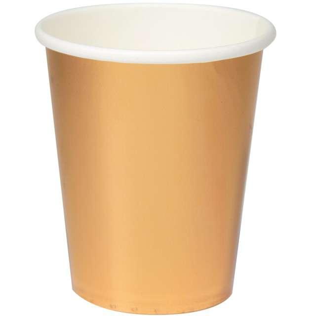 """Kubeczki papierowe """"Metalic Cups"""", różowe-złoto, FOLAT, 250 ml, 8 szt"""