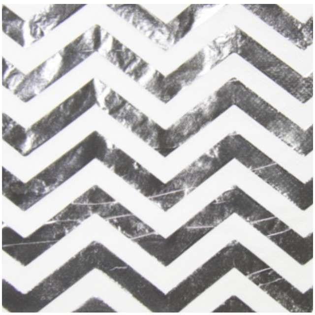 "Serwetki ""Metalic"", srebrne, FOLAT, 33 cm, 20 szt"
