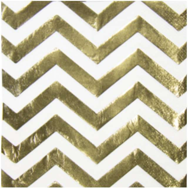 """Serwetki """"Metalic"""", złote, FOLAT, 33 cm, 20 szt"""