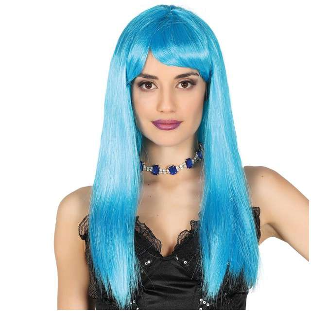 "Peruka party ""Neon Bob"", niebieski, GUIRCA"
