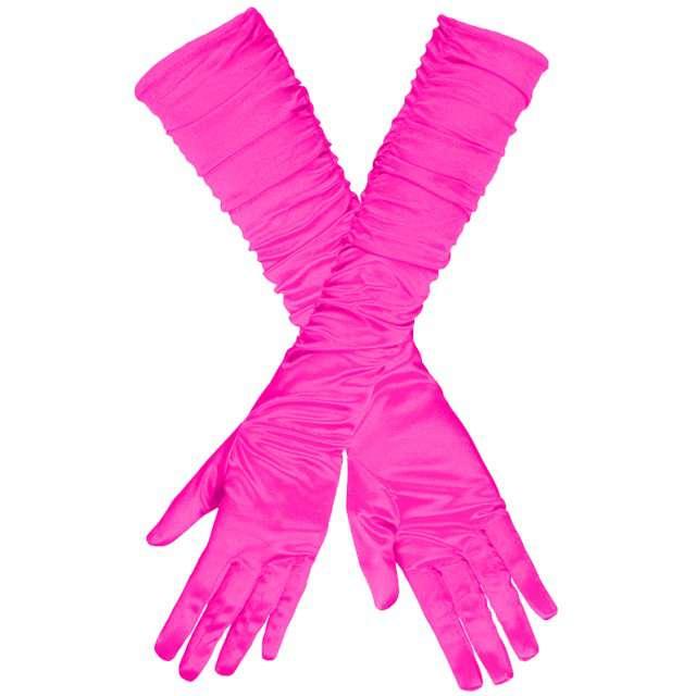 """Rękawiczki """"Long Elegant"""", różowe ciemne, GUIRCA, 45 cm"""